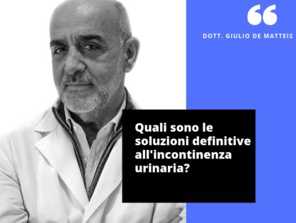 Incontinenza urinaria: oggi è possibile sconfiggerla.